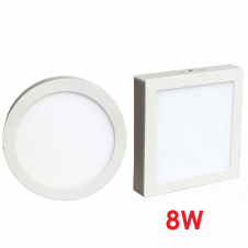 Surface Mounted 8W LED Panel Light Round and Square